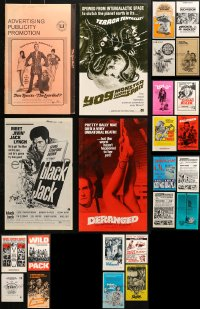 2y158 LOT OF 24 UNCUT PRESSBOOKS 1970s advertising images from a variety of different movies!