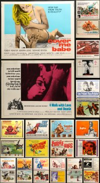 2y645 LOT OF 28 MOSTLY UNFOLDED HALF-SHEETS 1960s great images from a variety of different movies!