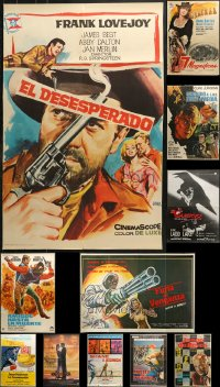 2y567 LOT OF 11 FORMERLY FOLDED SPANISH POSTERS 1960s-1980s great images from a variety of movies!