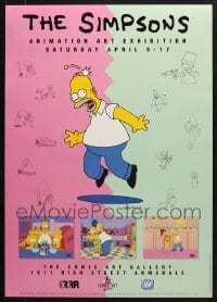 2y669 LOT OF 14 UNFOLDED SIMPSONS ANIMATION ART EXHIBITION 19X27 AUSTRALIAN SPECIAL POSTERS 1994