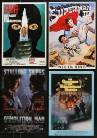 2y562 LOT OF 4 UNFOLDED 12x17 GERMAN POSTERS 1980s-1990s great images from a variety of movies!