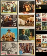 2y147 LOT OF 27 LOBBY CARDS 1950s-1970s great scenes from a variety of different movies!