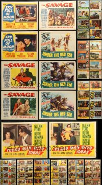 2y084 LOT OF 122 LOBBY CARDS 1950s incomplete sets from a variety of different movies!