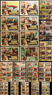 2y088 LOT OF 112 LOBBY CARDS 1950s-1980s incomplete sets from a variety of different movies!