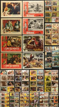 2y086 LOT OF 114 LOBBY CARDS 1950s-1960s incomplete sets from a variety of different movies!