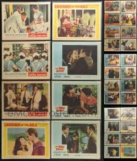 2y141 LOT OF 40 1960S BAGGED AND PRICED LOBBY CARDS 1960s incomplete sets from a variety of movies!