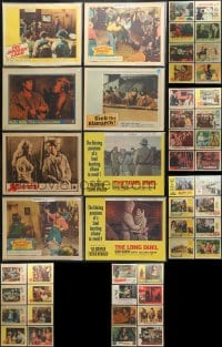 2y137 LOT OF 48 1960S BAGGED AND PRICED LOBBY CARDS 1960s incomplete sets from a variety of movies!