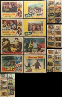 2y142 LOT OF 40 1950S BAGGED AND PRICED LOBBY CARDS 1950s incomplete sets from a variety of movies!