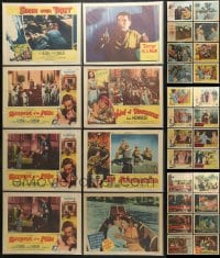 2y138 LOT OF 48 1950S BAGGED AND PRICED LOBBY CARDS 1950s incomplete sets from a variety of movies!