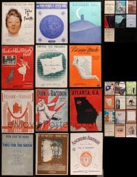 2y168 LOT OF 43 SHEET MUSIC 1910s-1940s a variety of different songs!