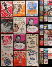 2y167 LOT OF 44 MOVIE SHEET MUSIC 1920s-1940s a variety of different songs!