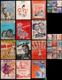 2y169 LOT OF 42 MOVIE SHEET MUSIC 1920s-1950s a variety of different songs!