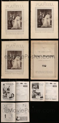 2y338 LOT OF 4 PLAYBILLS 1920s-1930s from the Martin Beck Theatre, cool vintage product ads!
