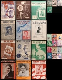 2y177 LOT OF 28 SHEET MUSIC FEATURED BY SINGERS 1920s-1950s a variety of different songs!