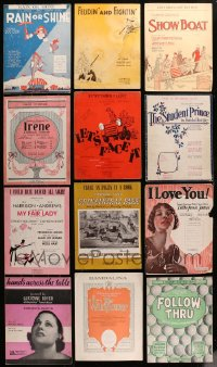 2y178 LOT OF 26 STAGE PLAY SHEET MUSIC 1910s-1950s a variety of different songs!