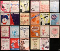 2y179 LOT OF 23 STAGE PLAY SHEET MUSIC 1920s-1950s a variety of different songs!