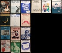 2y183 LOT OF 15 BLUES SHEET MUSIC 1910s-1950s white people singing the blues!