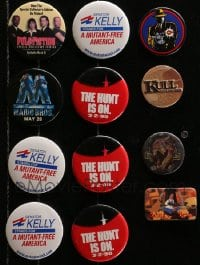 2y428 LOT OF 12 ACTION/ADVENTURE PIN-BACK BUTTONS 1990s-2000s images from a variety of movies!