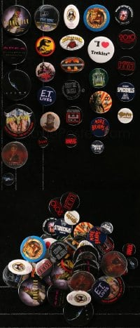 2y399 LOT OF 45 HORROR/SCI-FI/FANTASY PIN-BACK BUTTONS 1980s-1990s a variety of cool images!