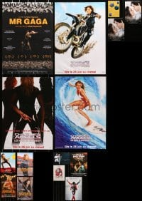 2y714 LOT OF 16 MOSLTY UNFOLDED MISCELLANEOUS POSTERS 2000s images from a variety of movies!