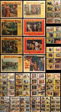 2y082 LOT OF 134 LOBBY CARDS 1950s incomplete sets from a variety of different movies!