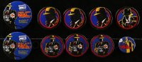 2y433 LOT OF 10 DICK TRACY PIN-BACK BUTTONS 1990 great artwork of Warren Beatty!