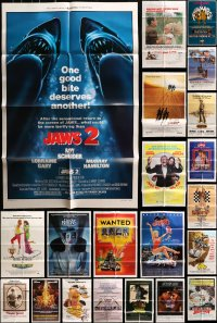 2y048 LOT OF 52 FOLDED ONE-SHEETS 1970s-1980s great images from a variety of different movies!
