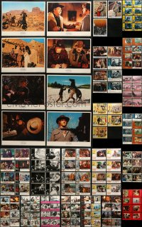 2y076 LOT OF 160 LOBBY CARDS 1960s-1990s mostly complete sets from a variety of movies!