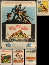 2y661 LOT OF 5 MOSTLY UNFOLDED 30X40S 1960s great images from a variety of different movies!
