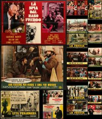 2y620 LOT OF 29 FORMERLY FOLDED 19x26 ITALIAN PHOTOBUSTAS 1950s-1970s a variety of movie scenes!