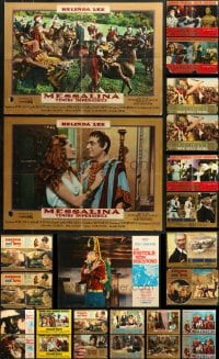 2y619 LOT OF 29 FORMERLY FOLDED 19x27 ITALIAN PHOTOBUSTAS 1960s-1970s a variety of movie scenes!
