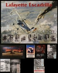 2y671 LOT OF 10 UNFOLDED AVIATION SPECIAL POSTERS 1980s-1990s cool airplane images!