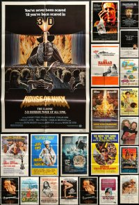 2y051 LOT OF 48 FOLDED ONE-SHEETS 1970s-1980s great images from a variety of different movies!