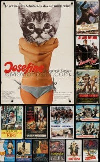 2y019 LOT OF 20 FOLDED NON-U.S. POSTERS 1970s-1990s great images from a variety of movies!