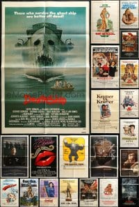 2y041 LOT OF 62 FOLDED ONE-SHEETS 1970s-1980s great images from a variety of different movies!