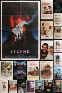 2y054 LOT OF 46 FOLDED ONE-SHEETS 1970s-1990s great images from a variety of different movies!