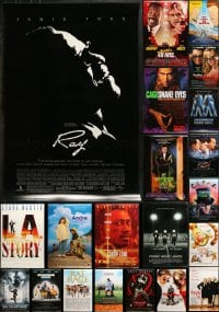 2y743 LOT OF 24 UNFOLDED DOUBLE-SIDED MOSTLY 27X40 ONE-SHEETS 1990s-2000s great movie images!
