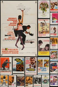 2y727 LOT OF 45 TRI-FOLDED SPANISH LANGUAGE 27x41 ONE-SHEETS 1960s-1980s cool movie images!