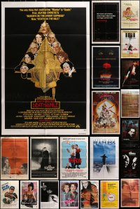 2y058 LOT OF 41 FOLDED ONE-SHEETS 1970s-1990s great images from a variety of different movies!