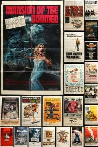 2y056 LOT OF 43 FOLDED ONE-SHEETS 1950s-1980s great images from a variety of different movies!
