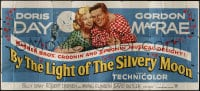 2z077 BY THE LIGHT OF THE SILVERY MOON 24sh 1953 romantic artwork of Doris Day & Gordon McRae!