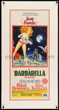 2z037 BARBARELLA Aust daybill 1968 sci-fi art of sexiest Jane Fonda, directed by Roger Vadim!