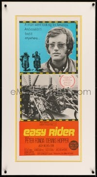 2z039 EASY RIDER Aust daybill 1969 Peter Fonda, motorcycle classic directed by Dennis Hopper!