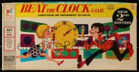 2z232 BEAT THE CLOCK board game 1969 new 2nd edition, contains 60 different stunts!