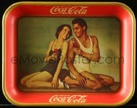 2z159 COCA-COLA drink tray 1974 Maureen O'Sullivan and Johnny Weismuller from 1934 tray!