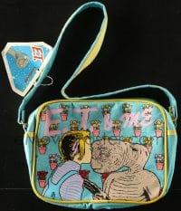 2z163 E.T. THE EXTRA TERRESTRIAL purse 1983 featuring Barrymore kissing him on nose, it's luggage!