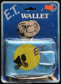 2z164 E.T. THE EXTRA TERRESTRIAL wallet 1982 Spielberg classic, bike over moon art!