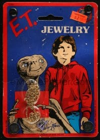 2z161 E.T. THE EXTRA TERRESTRIAL collectible necklace 1983 great collectible, you can wear it too!