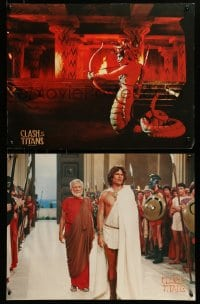 2z057 CLASH OF THE TITANS 4 color 17.75x33 stills 1981 cool Ray Harryhausen special effects scenes!