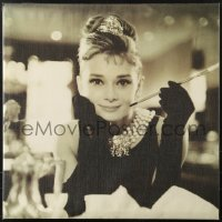 2z052 AUDREY HEPBURN 24x24 Canadian art print 2012 smiling close-up from Breakfast at Tiffany's!